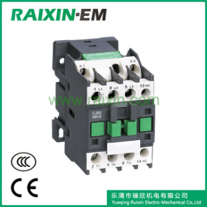 Raixin Cjx2-0910 AC Contactor 3p AC-3 380V 4kw Green pictures & photos