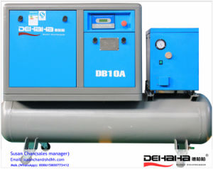 7.5kw 10HP Air Tank/Dryer Combined Belt Driven Screw Air Compressor pictures & photos