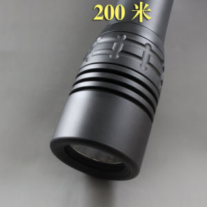 Professional 200 Meters LED Light Diving Flashlight pictures & photos
