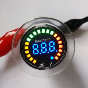 12V Color LED DC Digital Display Waterproof Volt+Battery Meter pictures & photos