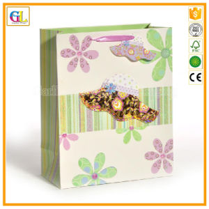 Fancy Paper Bag with Ribbon Handle Pringting pictures & photos