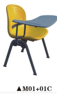 Plastic Chair Office Chair with Writing Pad pictures & photos