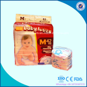 Soft Pamper Baby Diaper with Magic Tape pictures & photos
