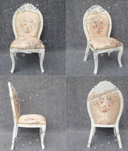 White Aluminum Imitation Wood Dining Chair for Restaurant (YC-D107) pictures & photos