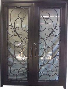 Chinese Wholesale Suppliers Metal Iron Doors Design (UID-D103) pictures & photos