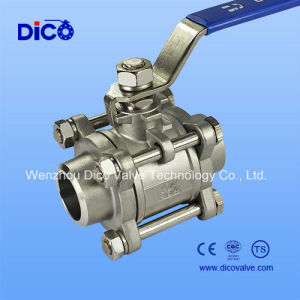 3PC Stainless Steel Butt Weld Ball Valve (Q61F) pictures & photos