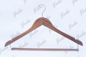 Bamboo Clothes Hanger with Pants Locking Bar (YLBM6612H-NTLN1) pictures & photos