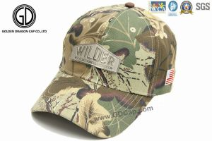 Baseball Golf Cap with Metal Emblem Logo Embroidery Sandwich pictures & photos