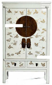 Chinese Antique Reproduction Butterfly Painting Cabinet pictures & photos