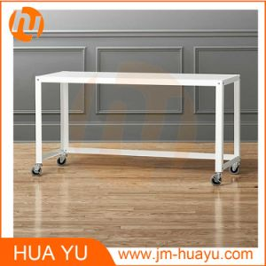 Powder Coat Office Furniture White Metal Rolling Console Table pictures & photos