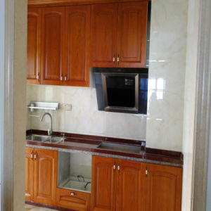 Custom Red Us Oak Solid Wood Kitchen Cabinet pictures & photos