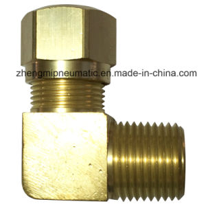 969 Male Elbow Brass Pipe Fitting for Nylon Tube (969-4-2) pictures & photos