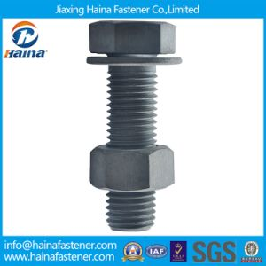 HDG Finished Full Thread Carbon Steel Hex Bolt with Hex Nut and Washer/Hex Head Bolts pictures & photos