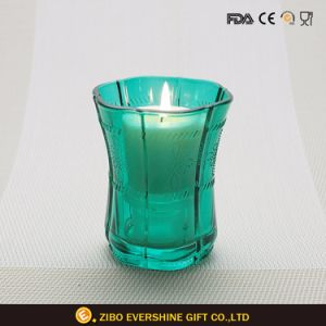 Waisted Shape Colored Glass Candle Holder pictures & photos