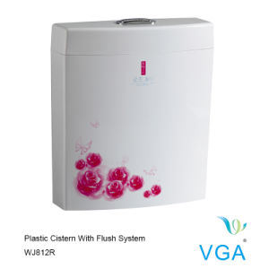 Toilet Cistern Water Tank with Flush Parts Wj812r