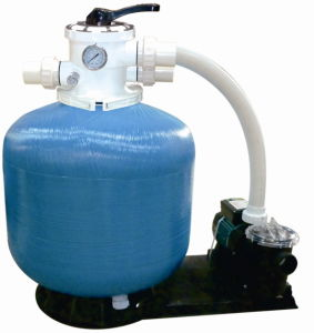 Plastic with Fiberglass Sand Filter with Pump Filtration System for Swimming Pool pictures & photos