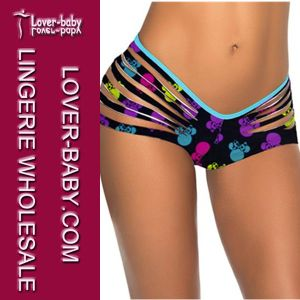 Lady Beachwear Skull Bikini Swim Wear Thong (L91290-3) pictures & photos