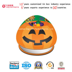 Halloween Cute Pumpkin Metal Tin Box Cookie Gift Box (T001-V27) pictures & photos