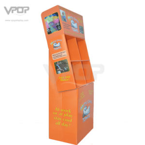 4 Compartments Cardboard Floor Display Rack for Towel pictures & photos