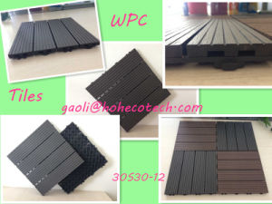 9.85′ Foot Square Wood Tiles WPC Walkway Patio Flooring Grey Color Tiles pictures & photos