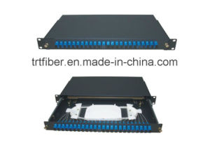 24 Port Sliding Rack Mounted Fiber Optic Terminal Box with Sc Duplex Adapter pictures & photos