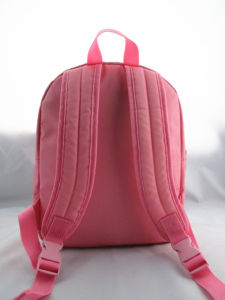 Girls Fox Head Pink Polyester Rucksack pictures & photos