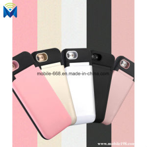 Phone Case Hidden Makeup Mirror Back Cover with Card Slots Mobile Holder for iPhone X 6 6plus 7 7plus 8 pictures & photos