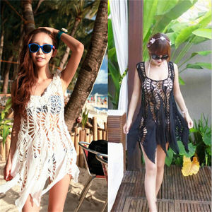 Korean Style Hollow out Lace Cover up Dress Swimwear (50166) pictures & photos