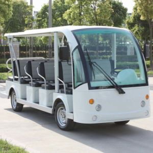 Ce Certificated Battery Powered Electric Passenger Car with 14 Seats Dn-14 pictures & photos