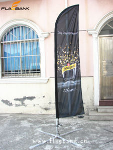 4.5m Exhibition Aluminium Portable Feather Flag/Flying Flag pictures & photos