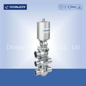 Ss 304 Clamped Thin Film Pneumatic Divert Seat Valve pictures & photos