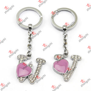 Enamel Purple Heart Metal Keychain/Alphabet Key Chain (KR15121422)