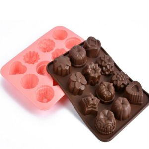 Flower Shape Silicone Cake Mold Cookie Moulds Chocolate Fondant Molds pictures & photos