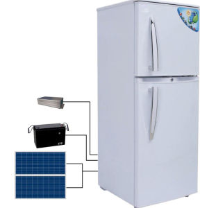 Double Door Solar Fridge and Refrigerator with Solar Panel pictures & photos