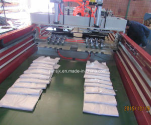 Full Automatic 4 Line Cold Cutting T-Shirt Bag Making Machine pictures & photos