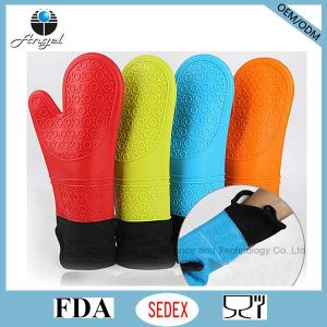 Heat Resistant Glove Thicker and Longer Silicone Glove FDA Approved Sg09
