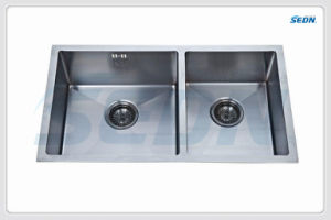 Handmade Double Bowl Stainless Steel Sinks (SB2014) pictures & photos