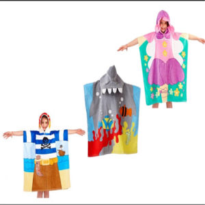 Multi Colorful Designs Kids Printed Beach Poncho pictures & photos