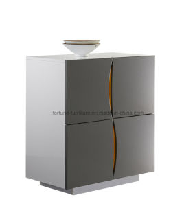 Wooden UV High Gloss Gray Sideboard with Four Cabinet (Smile 301) pictures & photos
