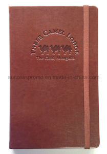 A5 PU Leather Moleskine Notebook with Debossed Logo pictures & photos