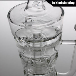 New 2017 Glass Smoking Water Pipe Hitman Sundae Stack Glass Oil Rigs Bubbler 14.4mm Male Joint pictures & photos