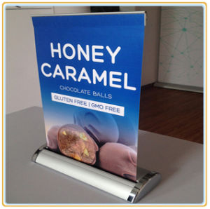 Exhibition Display Teardrop A3 Mini Roll up Banner Stand pictures & photos