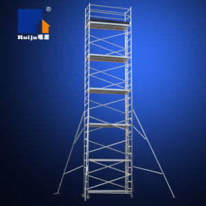 Double-Width Scaffolding with Vertical Ladder 10m pictures & photos