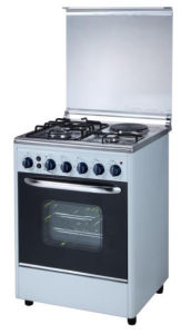 Free Standing Oven with 3 Gas and 1 Hotplate Stove pictures & photos