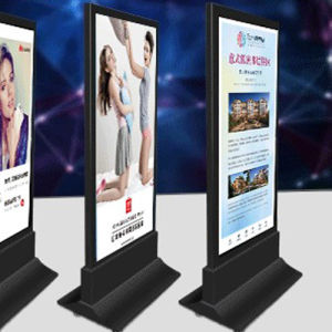 Double Side Movable Outdoor Rotating Standing Light Box pictures & photos