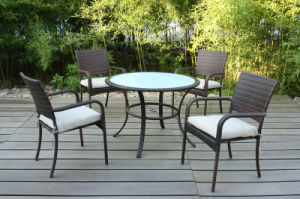 Table and Chairs Rattan Wicker Outdoor Garden Furniture (FS-2015+ FS-2016) pictures & photos
