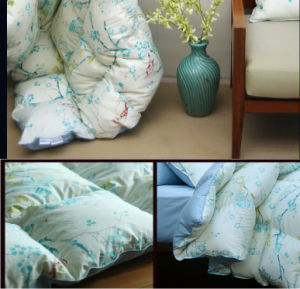 Flower Printing Cover Grey Duck Down Duvet for House pictures & photos