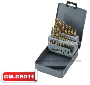 19PCS HSS Straight Shank Tin-Coated Twist Drill Bit Set (GM-dB011) pictures & photos