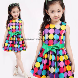Fashion Polka DOT Baby Girl Lovely Princess Dress Children Wear pictures & photos