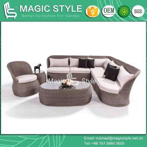 Rattan Corner Sofa Set Wicker Combination Sofa Patio Sofa with Cushion Garden 2-Seat Sofa pictures & photos